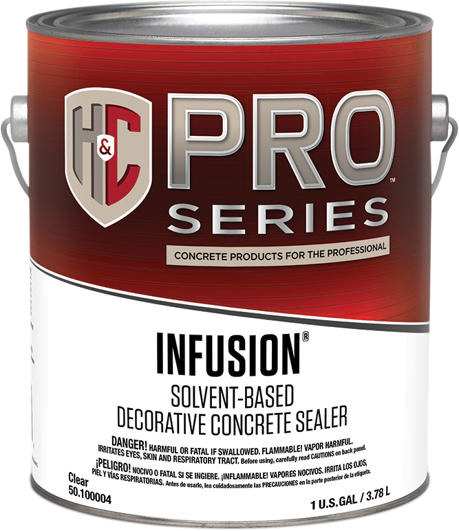 INFUSION® SOLVENT-BASED CLEAR DECORATIVE CONCRETE SEALER