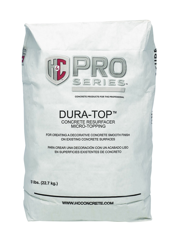 Dura top micro topping concrete resurfacer h c concrete for Microtopping costi